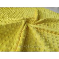 Ткань плюшевая Minky Dots желтый (пупырышки)