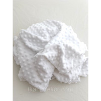 Ткань плюшевая Minky Dots белый (пупырышки