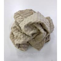 Ткань плюшевая Minky Dots бежевый (пупырышки)